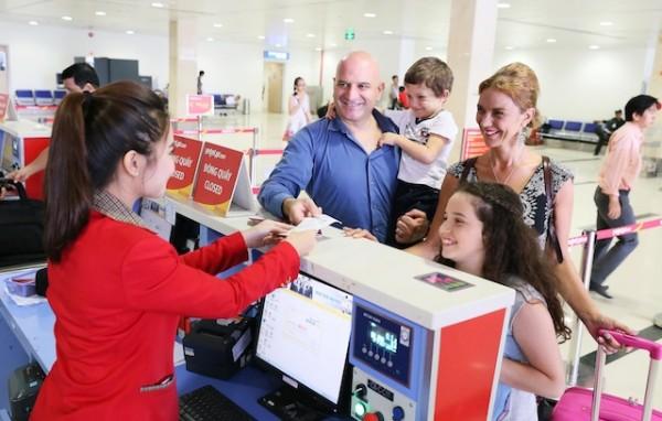 Thông báo về việc thay đổi khu vực làm thủ tục tại sân bay quốc tế Nội Bài